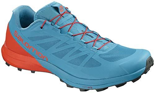 (Salomon Men's Sense PRO 3 Sneaker, Fjord Blue/Cherry Tomato/Urban Chic)