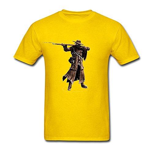 Flysky Men's Cowboy Shotgun Customized Personality T-shirt