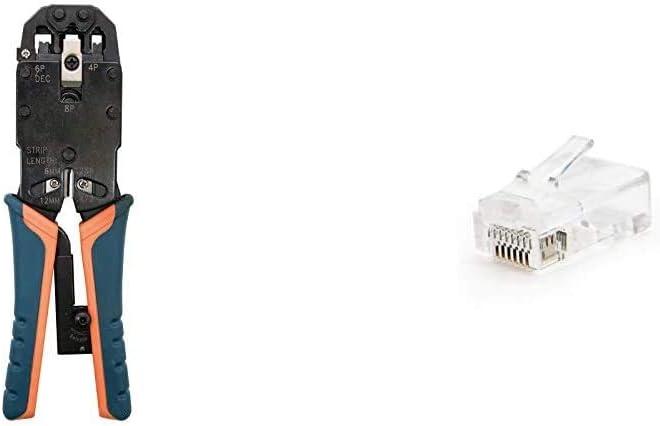 NanoCable 10.31.0102 Tenaza metalica de carraca para crimpar cables RJ10//RJ11//RJ12//RJ45