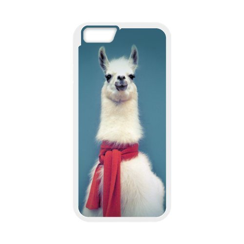 swa White Llama With A Pink Scarf iPhone 6 Plus Samsung Galaxy Case iPhone 6/6S TPU Case iPhone 5 PC 4/4S Case