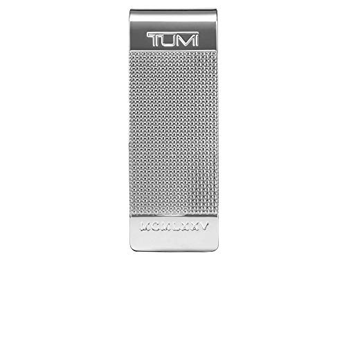 - TUMI - Nassau Ballistic Etched Money Clip Wallet with RFID ID Lock for Men - Silver