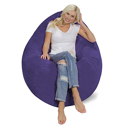 Chill Sack Bean Bag Chair Pillow: Giant Memory Foam Furniture Bean Bag - Big Sofa Soft Micro Fiber Cover - -
