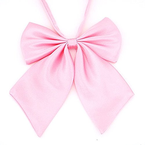 Girl's Japan School Student Sailor Suit Bowknot Adjustable Ribbon Pink - Pink Sailor Costumes