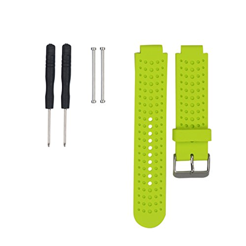 Price comparison product image For Garmin Forerunner 220 230 235 630 620 735 Color WristBand Bracelet WatchBand Accessory TPU Wrist Band Strap For Garmin Forerunner 220 230 235 630 620 735 -Lime Green -Band