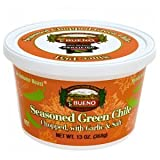 Green Chile, Seasoned Chopped Autumn Roast, HOT, 13oz. Tubs, 6 Pack, Frozen