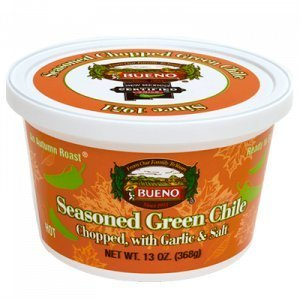 Green Chile, Seasoned Chopped Autumn Roast, HOT, 13oz. Tubs, 6 Pack, Frozen by Bueno (Image #2)