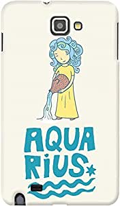 DailyObjects Aquarius Case For Samsung Galaxy Note Back Cover Multicolor