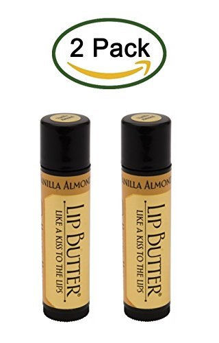 Lip Butter, Vanilla Almond, By Honey House Naturals (2 Tubes)