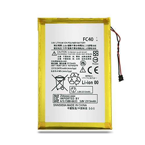 BatteryMon FC40 Battery Replacement for Moto G 3rd Gen G3 2015 XT1540 XT1541 XT1543 XT1544 XT1548 SNN5965A Mobile Phone