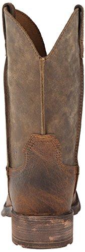 Ariat Mens Rambler Wide Square Toe Western Cowboy Boot Terra / Bomber Marrone