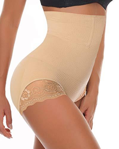 SEXYWG Women High Waist Shapewear Tummy Control Panty Slimmer Brief Lace Underwear ()