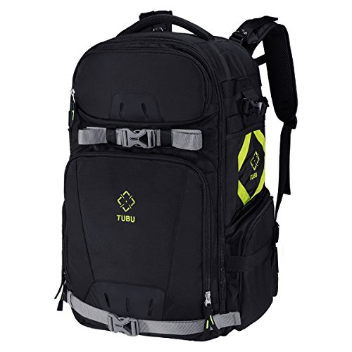 TUBU Camera Backpack Extra Large to Fit 2 Pro-sized DSLR Cameras, 4-6 Lenses, Tripod, and 17 inch Laptop by TUBU
