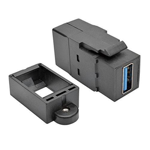 Lite 000 Usb Tripp (Tripp Lite USB 3.0 Keystone Panel Mount Coupler (F/F), All-in-One, Black (U325-000-KP-BK))