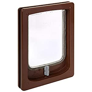 Pet-Tek Wood Fitting Dog Door, Brown, Small Click on image for further info.