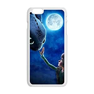 Moon night fish and boy Cell Phone Case for iPhone plus 6