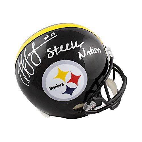 JuJu Smith-Schuster Steeler Nation Autographed Full-Size Football Helmet - JSA ()
