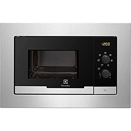 Electrolux EMM20007OX Integrado 20L 800W Acero inoxidable - Microondas (Integrado, 20 L, 800 W, Giratorio, Acero inoxidable, LCD)