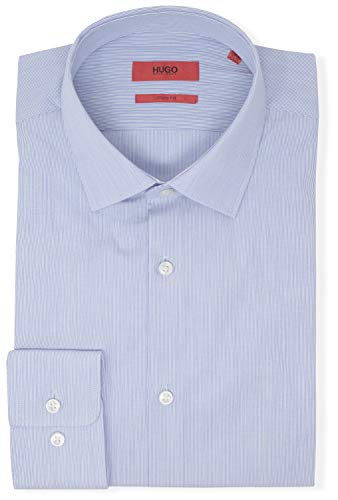 Hugo Boss Men's Mabel Sharp Fit Stripe Dress Shirt (17.5 34/35, ()