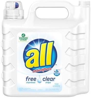 alls Detergente líquido Transparente para lavandería Libre de ...