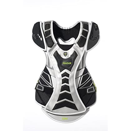 Image of Reebok 10K Goalie Chest Protector (Black/Silver/Lime)