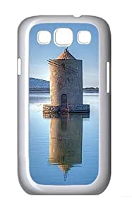 Samsung Galaxy S3 Case and Cover- Windmill Custom PC Case for Samsung Galaxy S3 / SIII / I9300 White
