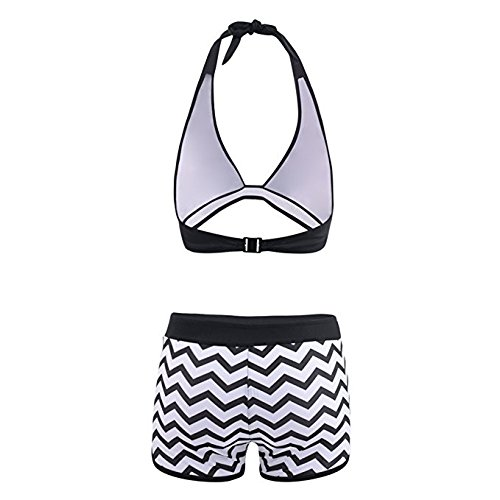 0097f0946244d Amazon.com: CHIDY Women Tankini Sets Two Piece Sexy V Neck Bikinis Sets  with Surfing Short Boyshorts Swimwear Swimsuit Bathing Suit: Clothing