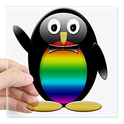 CafePress - Penguin Rainbow Png Square Sticker 3
