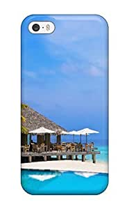 Hot Snap-on Maldives Holidays Hard Protective For Iphone 5/5S Phone Case Cover (3D PC Soft Case)
