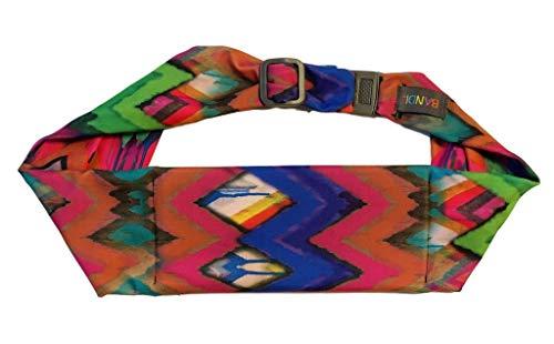 - BANDI Unisex Secure Running Belt with Adjustable Straps and Large Pocket (Painted Ikat)
