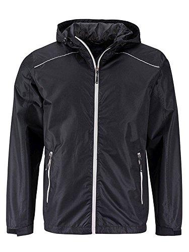 silver Casual Giacca Pioggia Black Jacket Funzionale E Da Men's Rain pvz7qwT