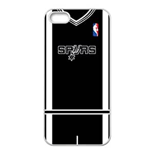 San Antonio Spurs T-shirt Fahionable And Popular High Quality Back Case Cover For Iphone 5S