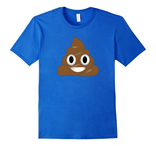 Men's Emoji Poop Shirt ~ Novelty Funny t-shirt for Men Women Kids 2XL Royal Blue