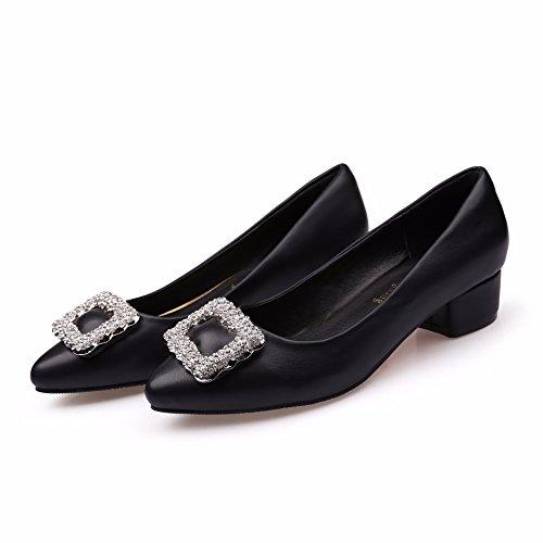 zapato de one tacón grande mujer fuerte calzado del Forty una un Donyyyy cabeza 7H5w58