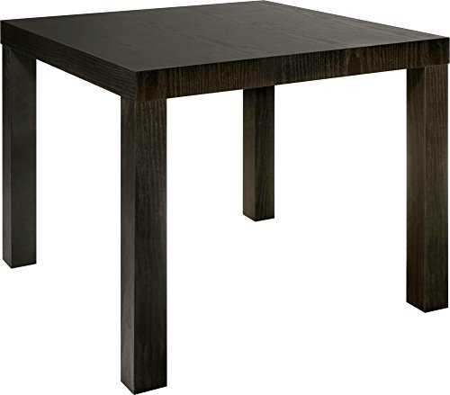 Parsons Chair Wood Finish Chair - DHP Parsons Modern End Table, Multi-use Toolless Assembly, Dark Espresso