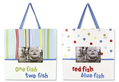 Trend Lab 2 Piece Dr. Seuss Frame Set, One Fish Two Fish, Baby & Kids Zone