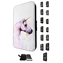 1353 - Cool Fun Trendy cute kwaii nature unicorn horse fantasy whimsical (3) Design Samsung Galaxy S6 Edge Fashion Trend TPU Leather Flip Case Full Case Flip Credit Card TPU Leather Purse Pouch Defender Stand Cover