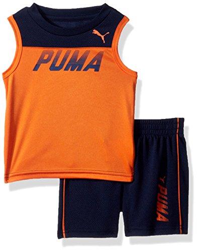 PUMA Baby Boys 2 Piece Muscle Top & Short Set