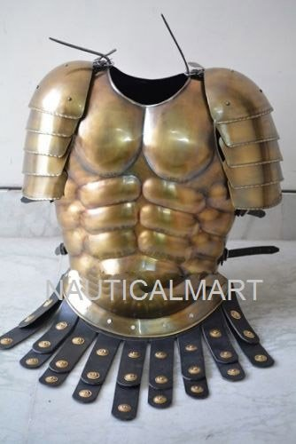 Nauticalmart Wearable Muscle Breastplate Medieval Armor Brass antique finish Armour jacket