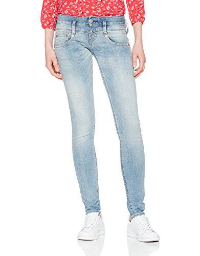 Herrlicher Damen Jeans Pitch Slim Blau (Cloudy 029) aGVzD