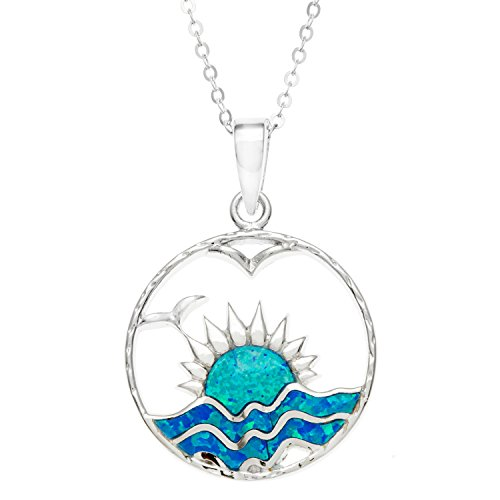 Sterling Silver Created Sunset Pendant product image