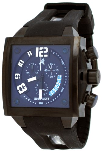 Adee Kaye #AK7115-MIPB Men's Persona Collection Polyurethane Strap Chronograph Watch
