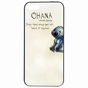 Fashion Ohana Family Quote Plastic Hard Back Skin Protector For Iphone 5/5S Case Cover by Alexism