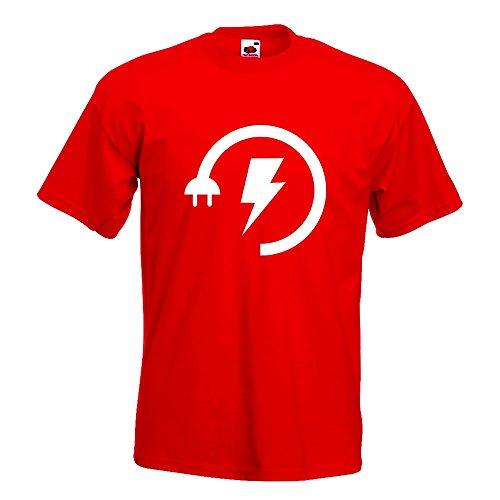 Fun shirt Kiwistar Imprimé Faible 15 L S Xxl M Couleurs Augmentation Rouge Xl Coton De Différentes L'électricité En Énergie Motif T Homme rrwYv