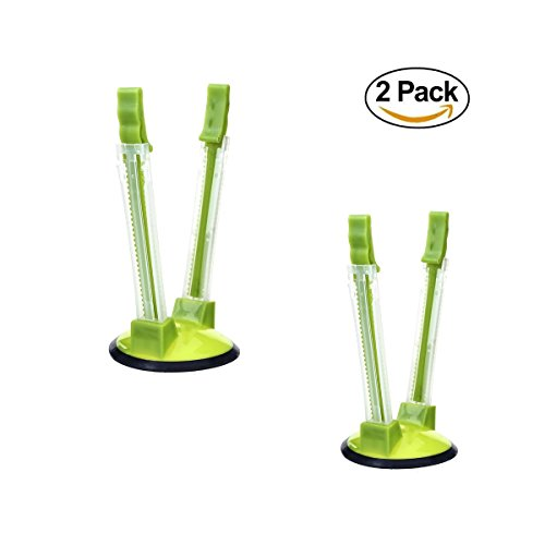 ZYXY Hands-Free Baggy Rack Clip Food Storage Bag Holder, 2-Pack Green (Rack Sandwich)