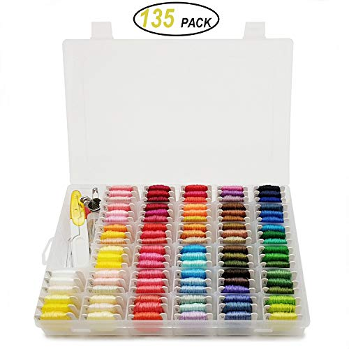 - Embroidery Floss with Organizer Storage Box - Peirich 96 Colors Friendship Bracelets Floss Bracelets String Embroidery Thread String Kit with Number Stickers and Floss Bobbins 38 Pcs Cross Stitch Kits