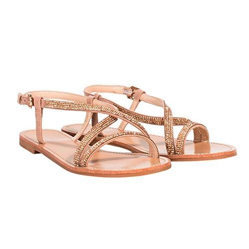 Parfois Sandalen Flat - Damen Gold Rosa