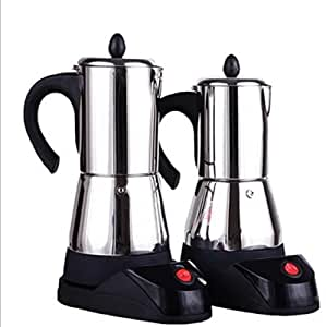 Cafetera eléctrica portátil Cafetera Moka con estufa eléctrica ...