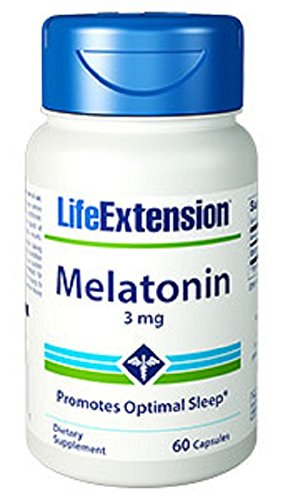 Life Extension Melatonin 3mg Capsule, 60-Count