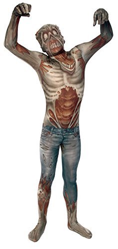 Morphsuits Kids Zombie Monster Costume - Medium 3'6-3'11 / 8-10 (Dead Famous Halloween Costumes)