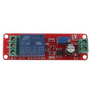 DIY NE555 monoestable Interruptor Time Delay Circuit Module (12V, Rojo)